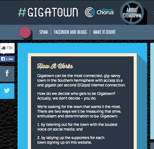 Gigatown competition driven by chorus